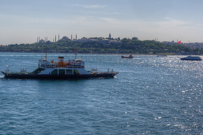 Water surface glistening from the sunlight - Istanbul, Turkey