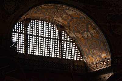 Large window at Hagia Sophia - Istanbul, Turkey