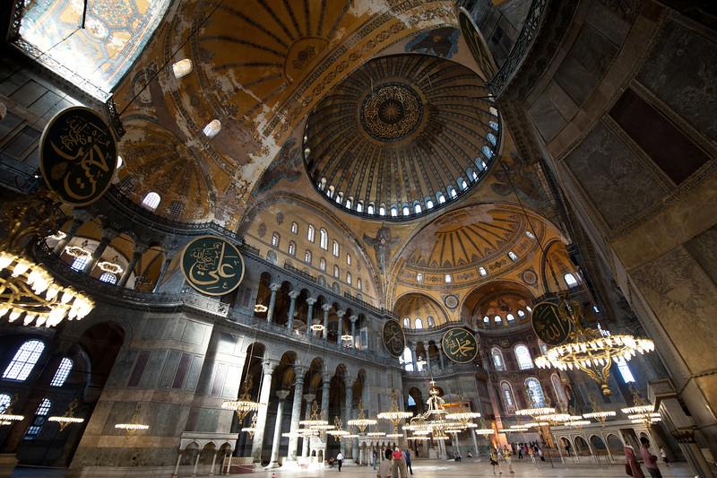 Beautiful interior details at the Haiga Sophia - Istanbul, Turkey