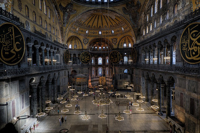 Inside the Hagia Sophia - Istanbul, Turkey
