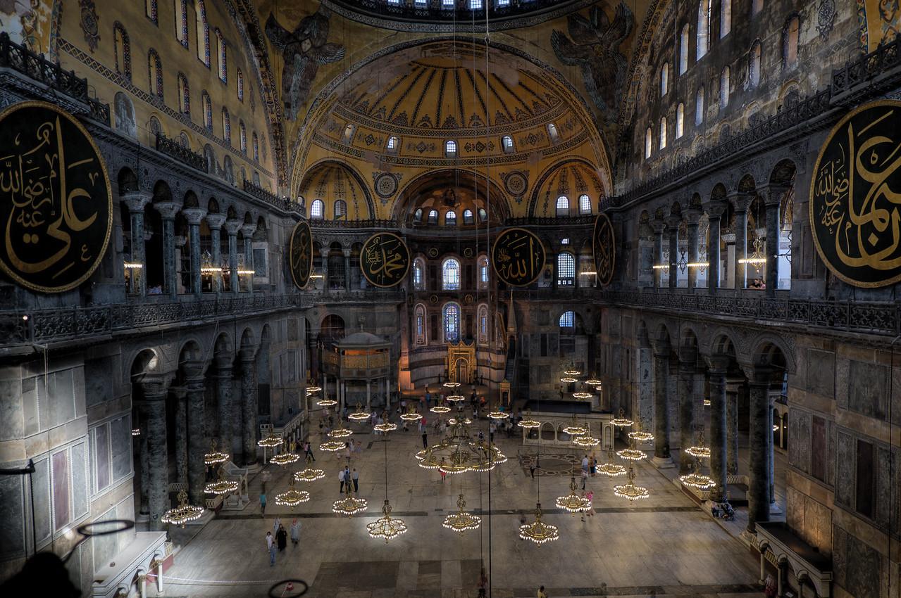 Inside the Hagia Sophia - Istanbul, Turkey