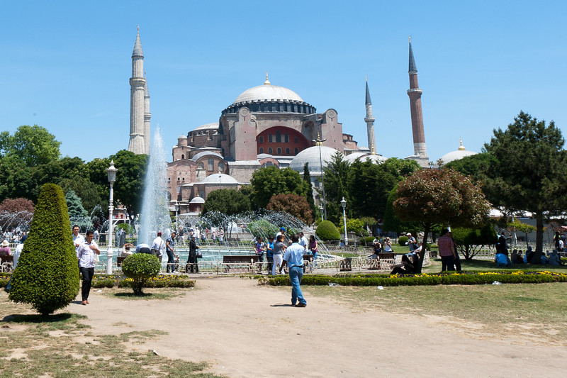 Park outside Hagia Sophia in Istanbul, Turkey