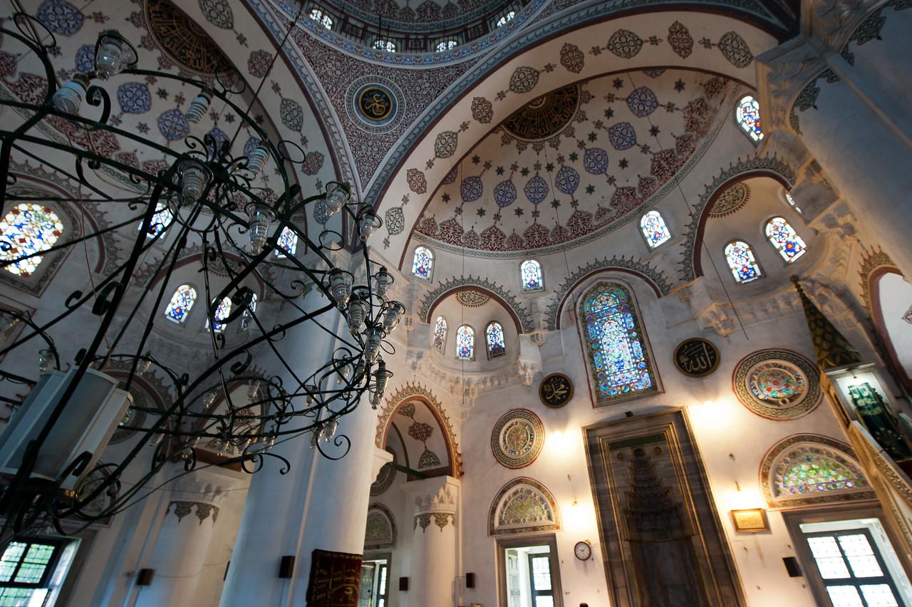 Windows and pillars at Hagia Sophia - Istanbul, Turkey