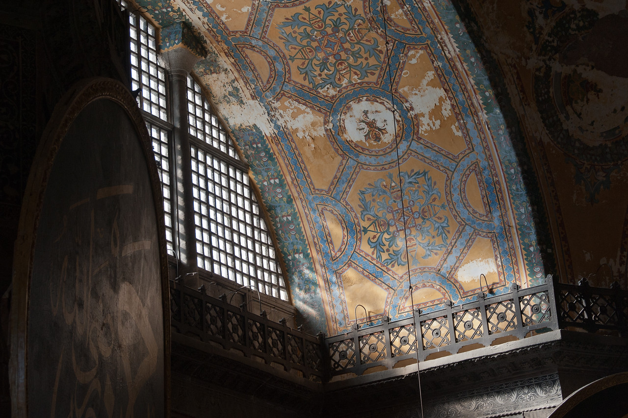 Interior details at Hagia Sophia in Istanbul, Turkey