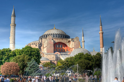 View of the dome and stupas from Hagia Sophia - Istanbul, Turkey
