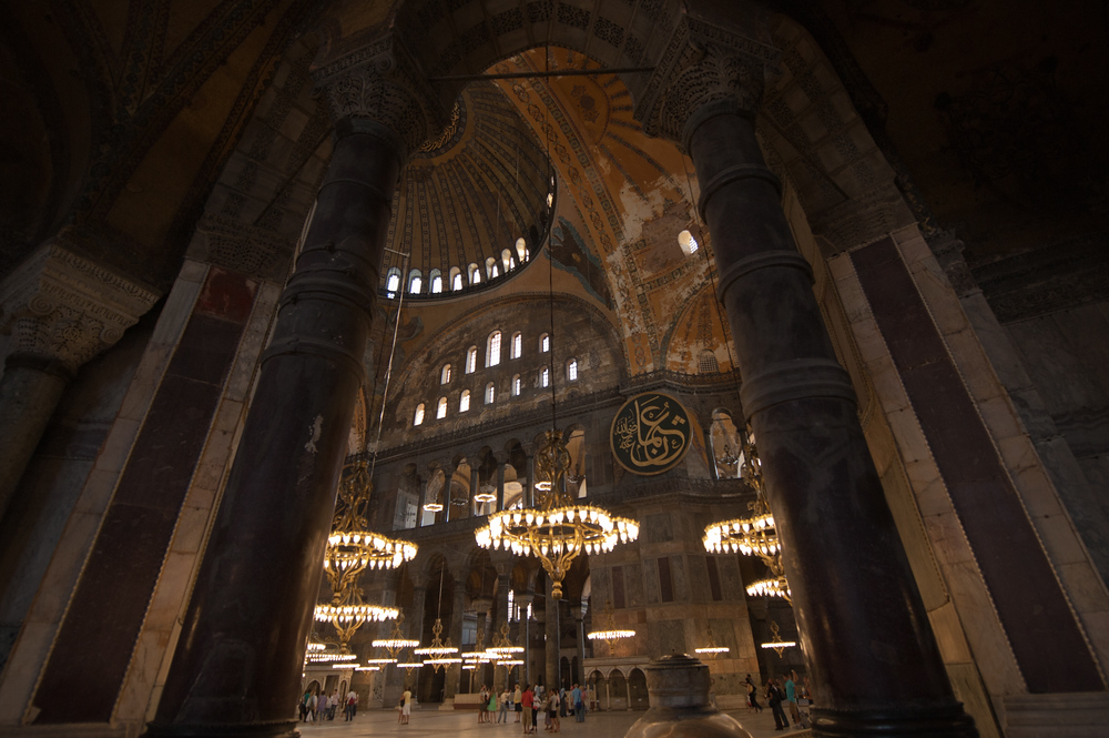 Archway Inside the Hagia Sophia in Istanbul, Turkey
