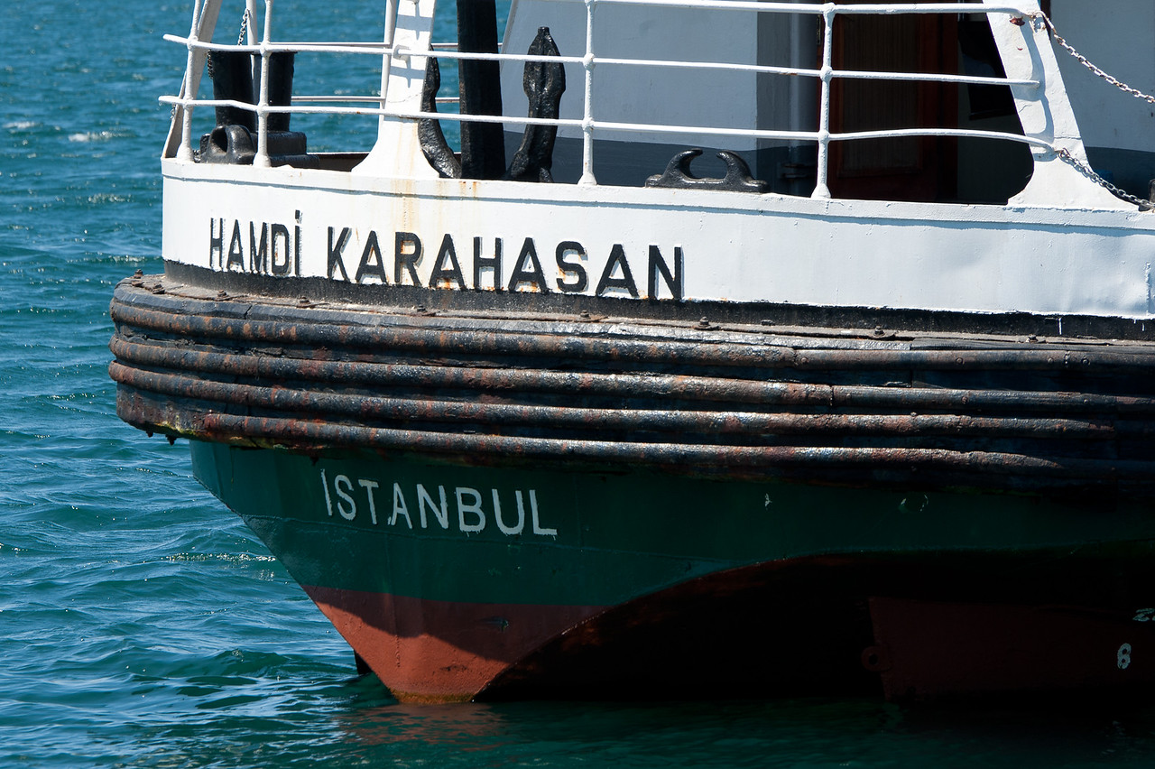 Anchor on boat in Istanbul, Turkey