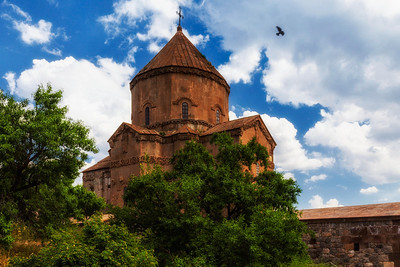 Armenian Cathedral of the Holy Cross on Akdamar Island in Van Lake