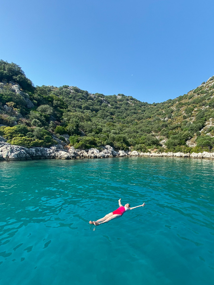 Swimming in the Mediterranean in Turkey