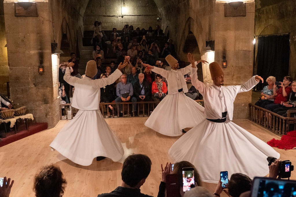 Sufi whirling dervish ceremony in Turkey