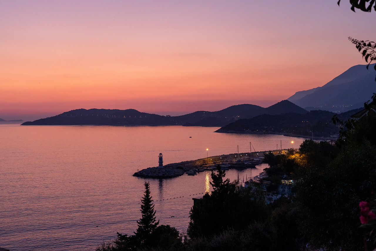 Sunset in Kaş, Turkey