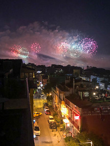 Istanbul independence day fireworks