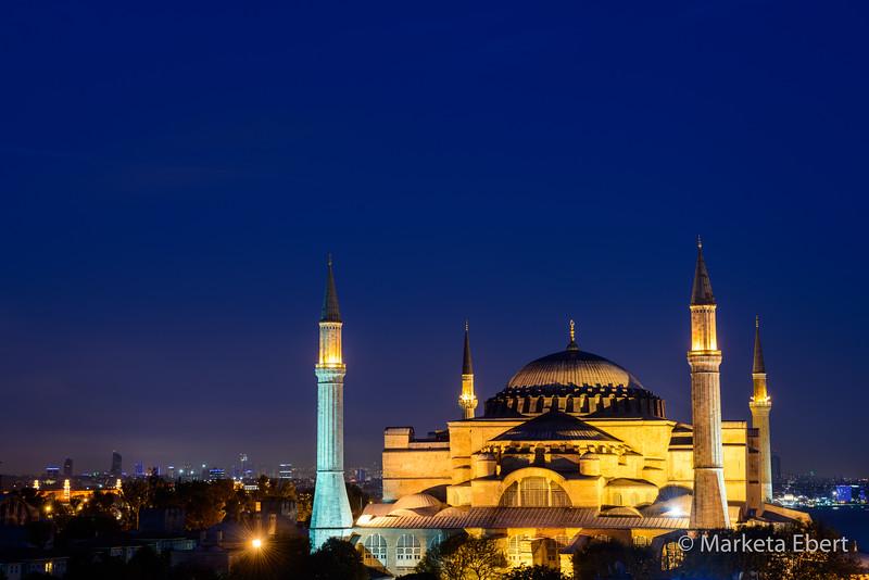 Hagia Sophia after sunset