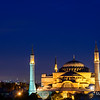 Hagia Sophia after sunset