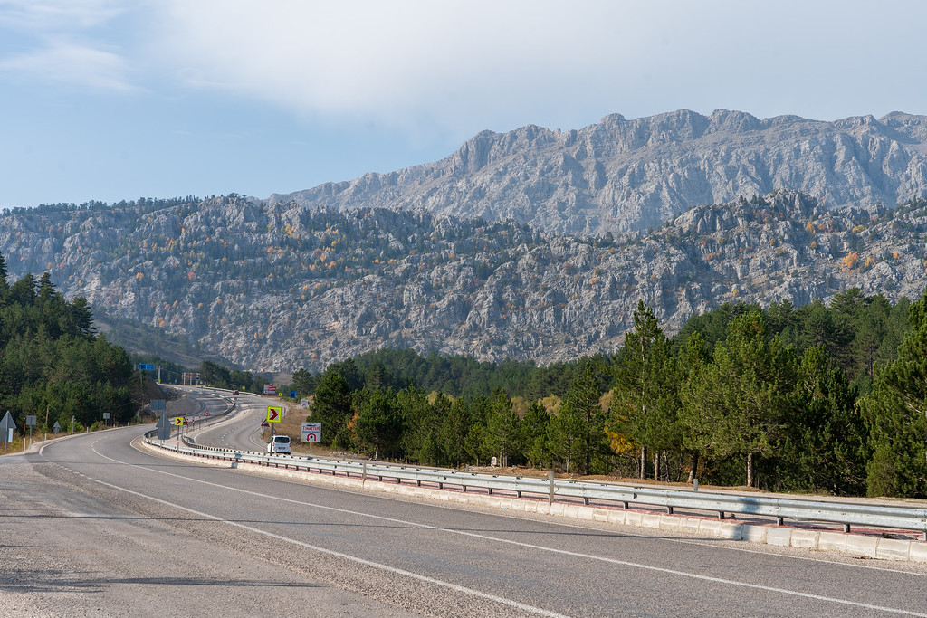Highway through the Taurus Mountains in Turkey