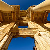 Looking up at Celsus Library