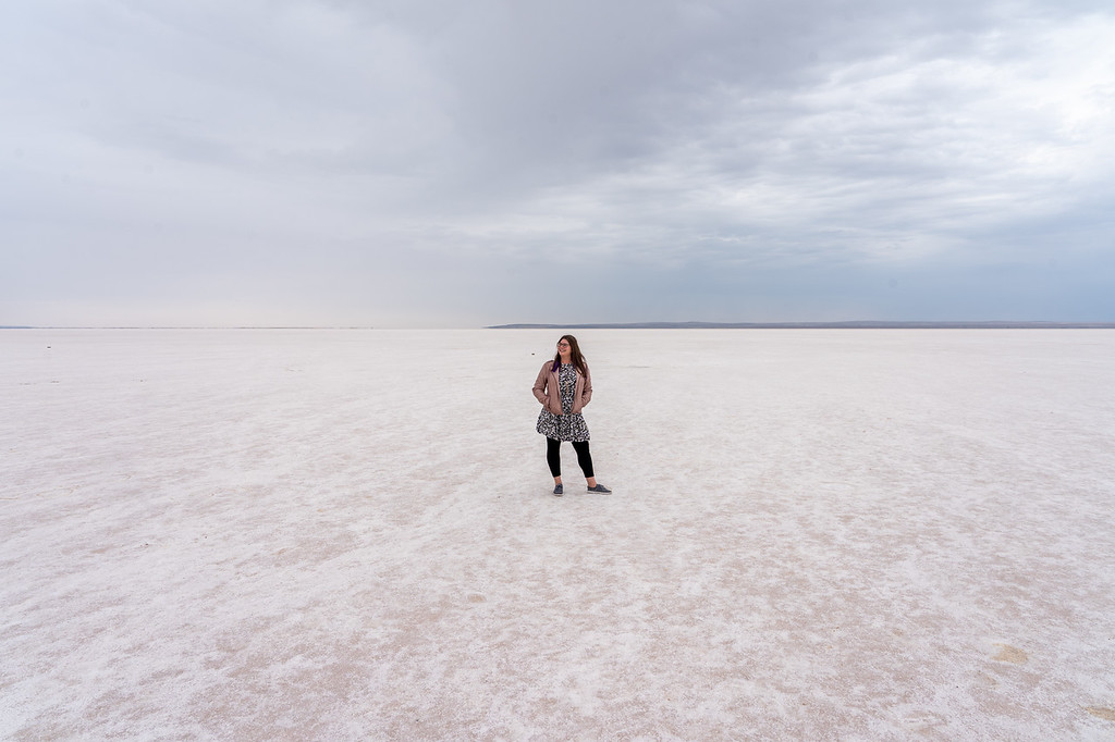 Salt flats at Tuz Gölü