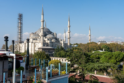 Blue Mosque view from Magnaura Palace Hotel
