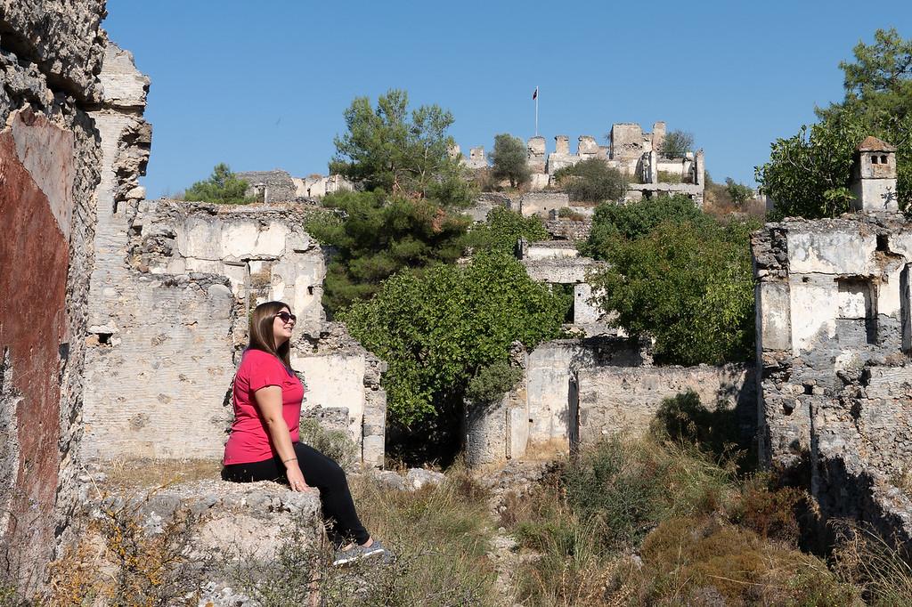 Amanda in a Turkish ghost town