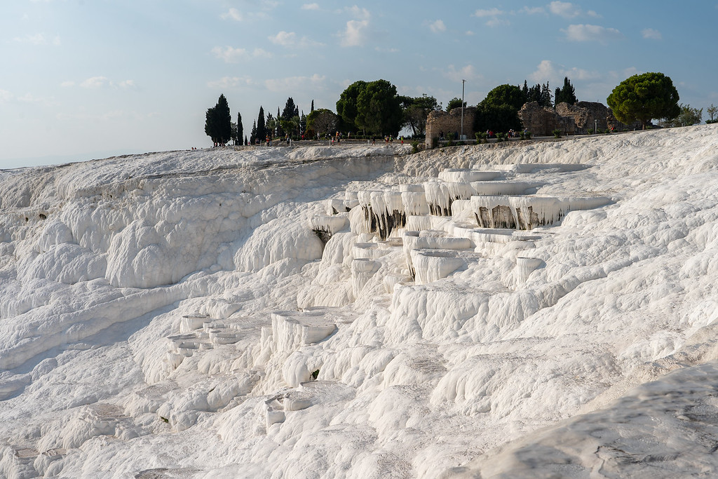 White silica terraces at Pamukkale