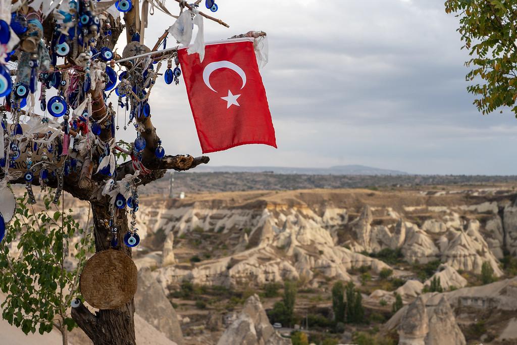 Turkish flag in Cappadocia