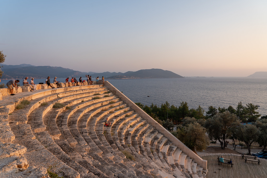 Sunset views at Antiphellos Theatre