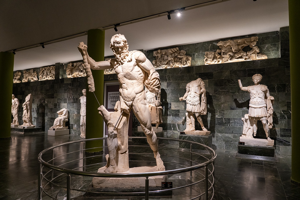 Statues at the Antalya Museum