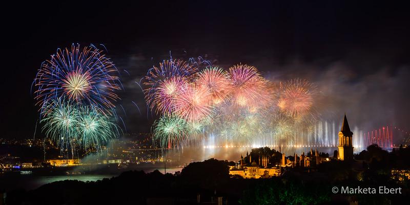 Fireworks over Topkapi Palace