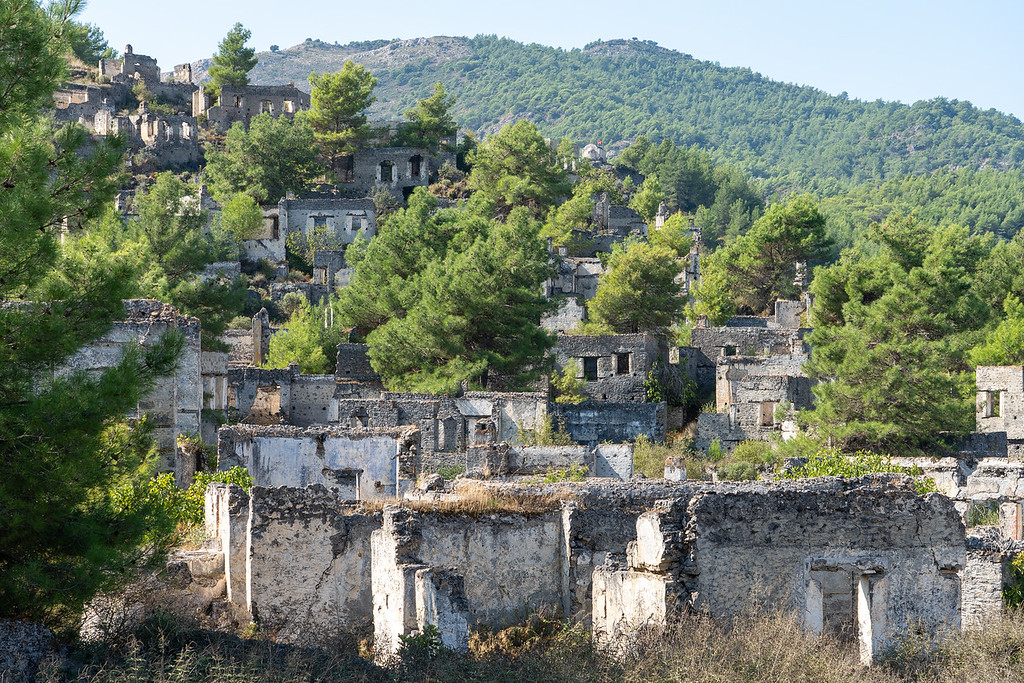 Kayaköy ghost town in Turkey