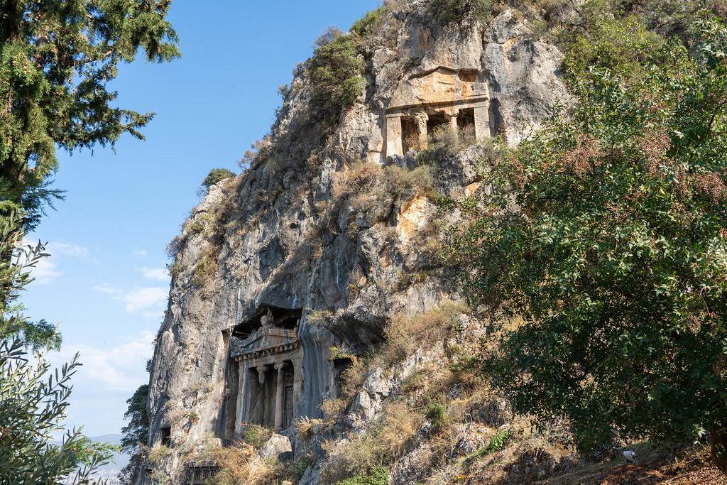 Lycian rock tombs near Fethiye