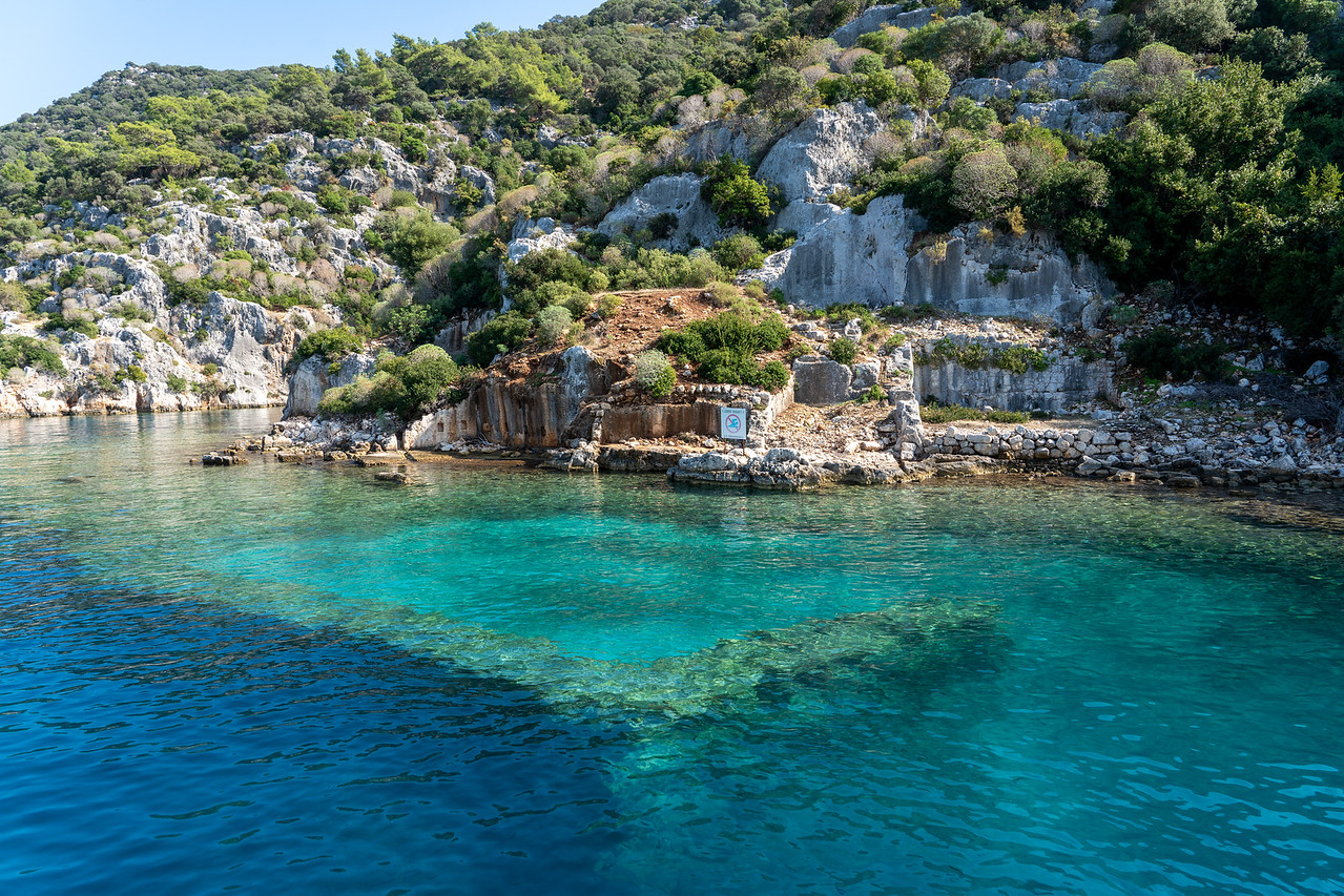 Ruins of the sunken city of Kekova