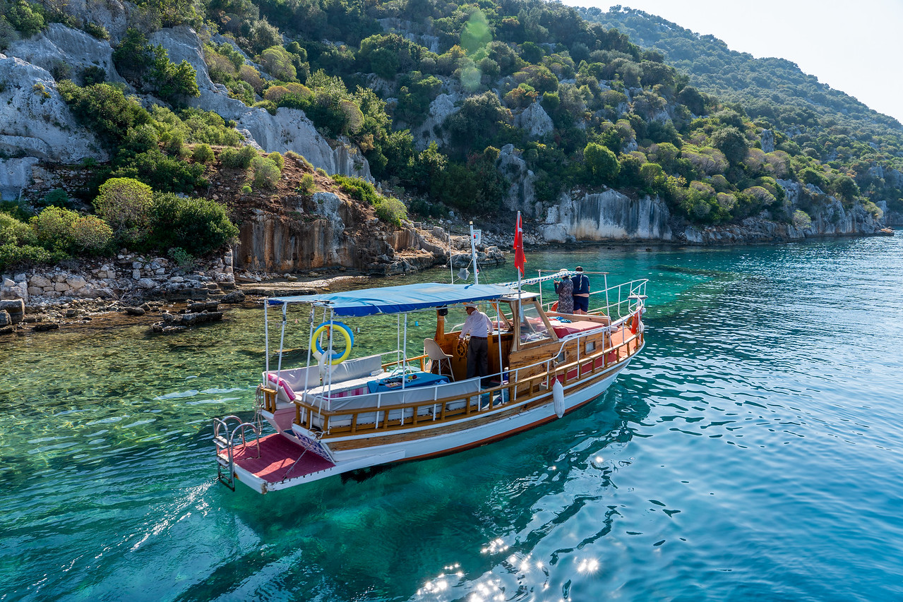 Boat on the Turkish Riviera