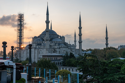 View of Blue Mosque from Magnaura Palace Hotel