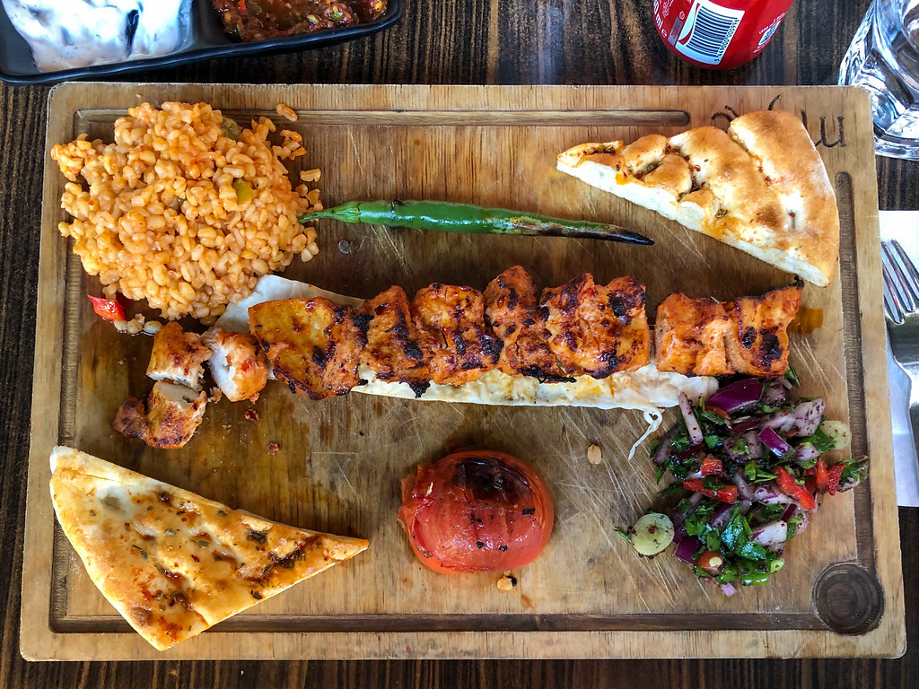 Chicken shish kebab in Turkey