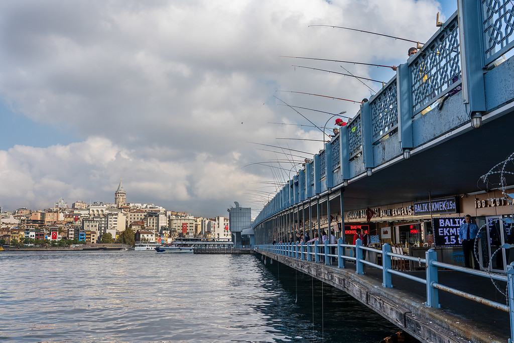 Fishing off the Galata Bridge