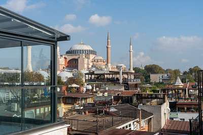 Hagia Sophia view from Magnaura Palace Hotel