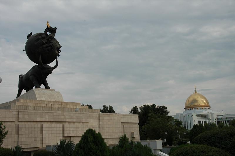 Earthquake Memorial and President's House - Ashgabat, Turkmenistan