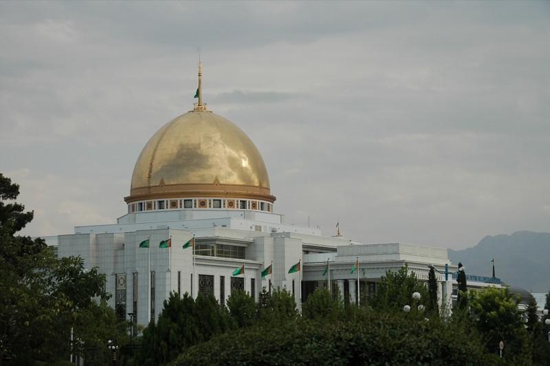 Turkmenistan's White House - Ashgabat, Turkmenistan