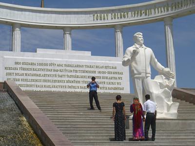 Turkmenbashi Statue Greets the Newlyweds - Ashgabat, Turkmenistan