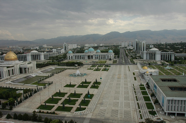 Government Buildings on Independence Square - Ashgabat, Turkmenistan