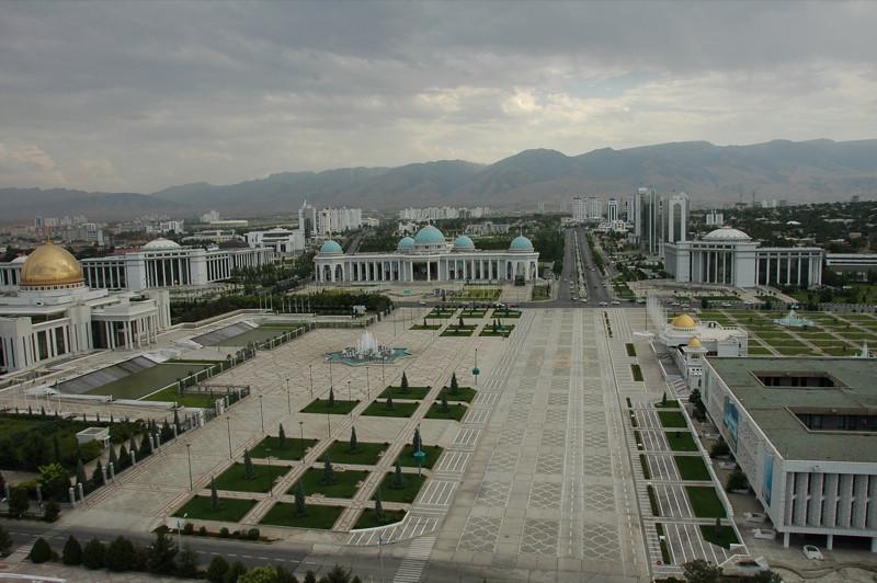 Government Buildings on Independence Square - Ashgabat, Turkmenistan