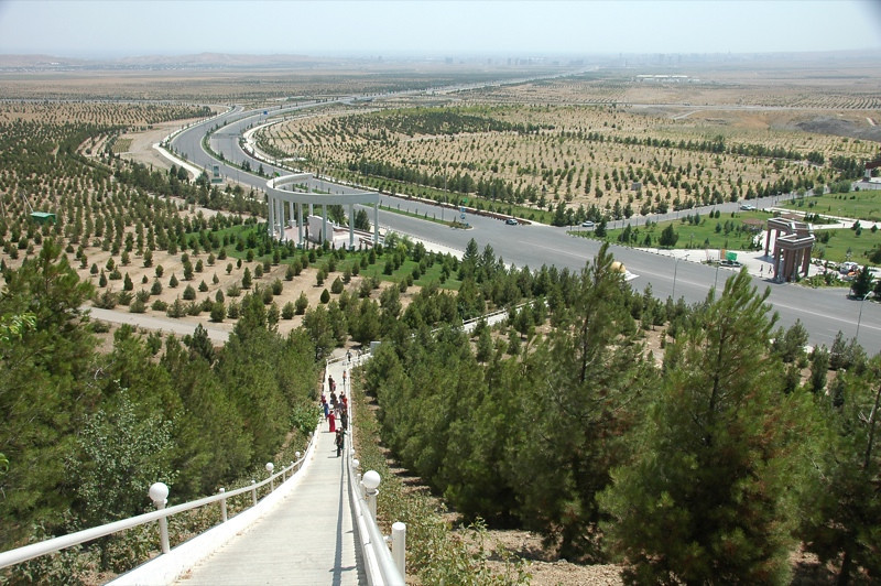 Trees at the Walk of Health - Ashgabat, Turkmenistan