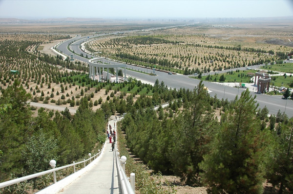 Trees at the Walk of Health - Ashgabat, Turkmenistan