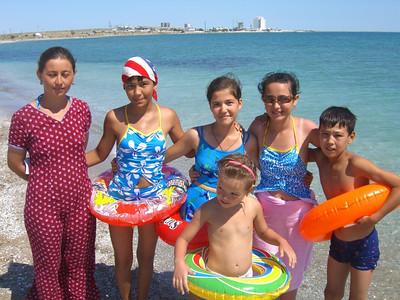 Kids at the Beach - Turkmenbashi, Turkmenistan
