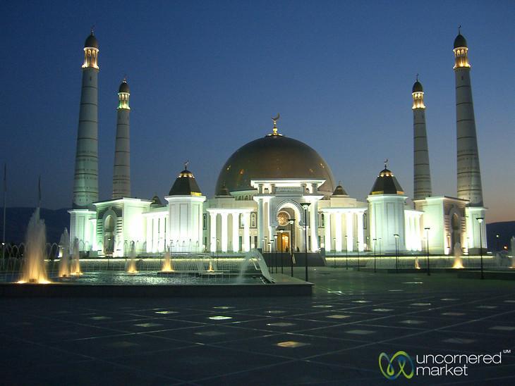 Large Dome at Turkmenbashi's Mosque - Ashgabat, Turkmenistan