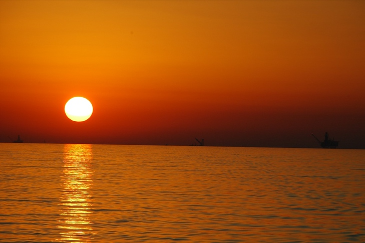 Beautiful Sunset on Caspian Sea - Azerbaijan, Turkmenistan