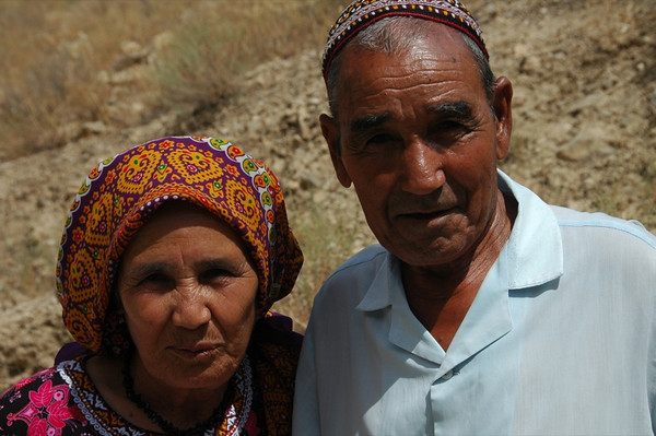 Elderly Couple - Qys Bibi, Turkmenistan