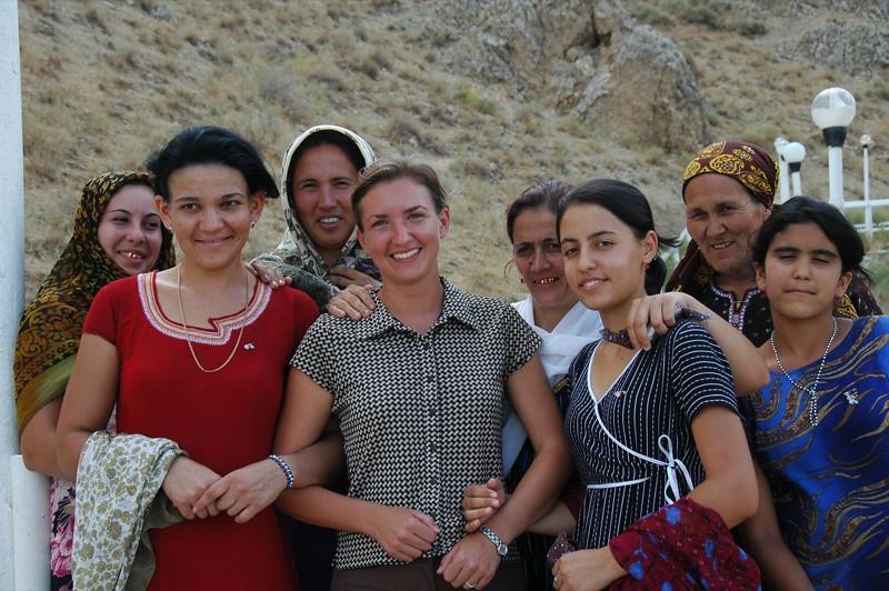 Audrey with Women Pilgrims - Paraw Bibi, Turkmenistan