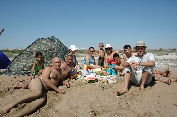Family Gathering at the Beach - Turkmenbashi, Turkmenistan