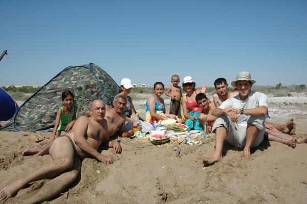 Family Gathering at the Beach - Turkmenbashi, Turkmenistan